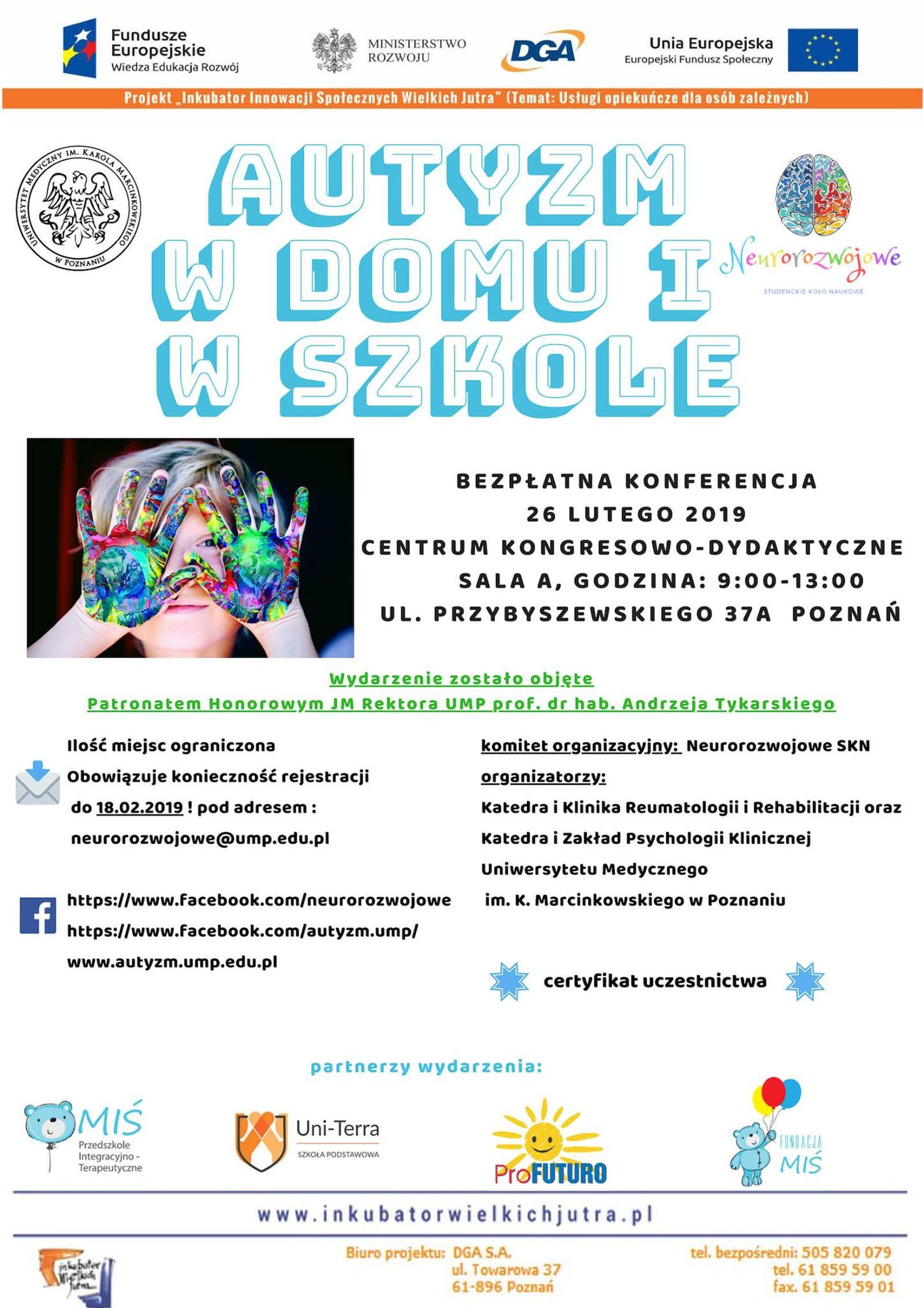 Autyzm W Domu I W Szkole Konferencja Na Uniwersytecie