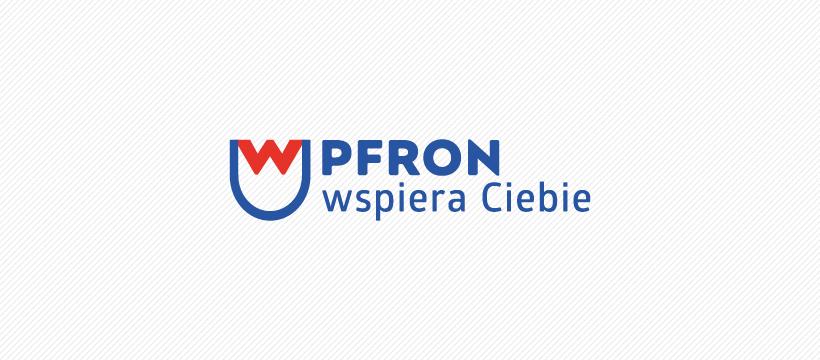 Logo projektu z napisem: Pfron wspiera Ciebie